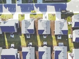 housing estate arial view
